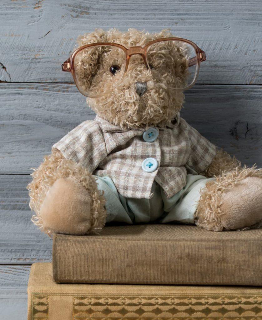 Plüsch-Teddybär mit Brille